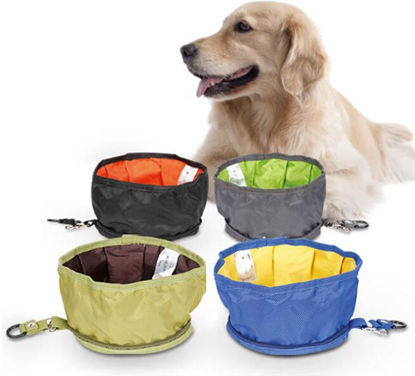 portable folding waterproof dog bowl pet outdoor travel products puppy bowls doggy food storage. Black Bedroom Furniture Sets. Home Design Ideas