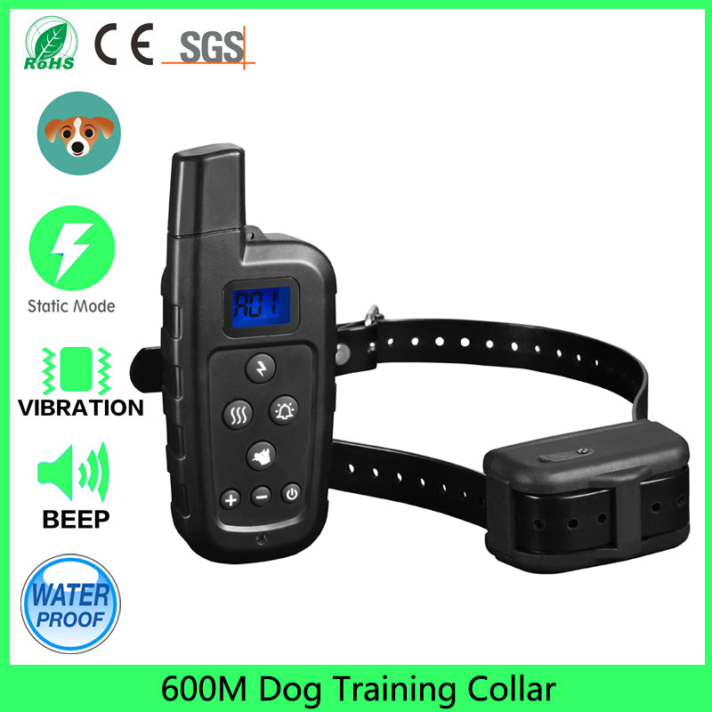 Professional 2 Dogs Training Collar with Remote 600meters Range Electric Shock Collar Vibrate for Smart Sport / Hunting Dogs