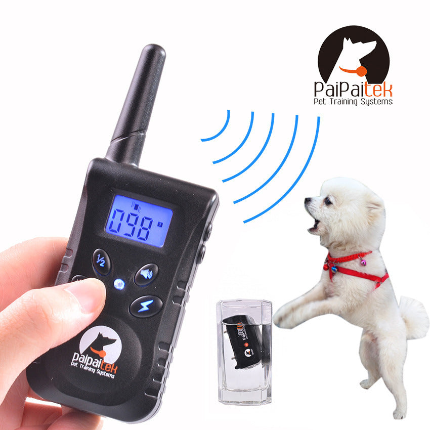 Rechargable Blue Screen 500M Remote Vibration Static Pet Dog Training Collar Pet Dog No Bark Collar Bark Stop Collar For 1 Dog