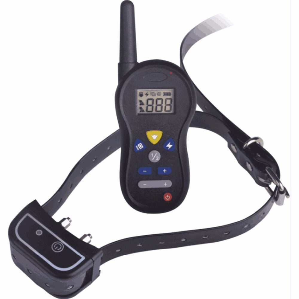 Rechargeable Professional Electronic Remote Control Dog Training Collars Waterproof Removable Blue LCD Display Pet Shock Collars