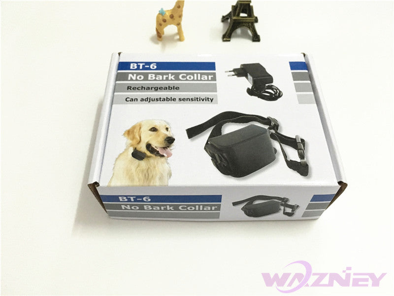 Rechargeable Waterproof Anti Bark Terminator Advanced no Bark Control Collar Shock Vibra BT-6 Dog Training Collar *20pcs/LOT