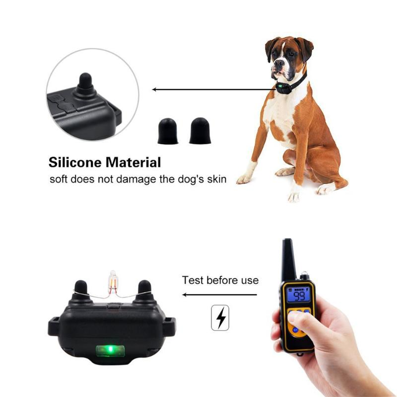 Rechargeable Waterproof Remote Dog No Bark Shock Training Collar Electronic LCD Display Shock Training Collar With Light