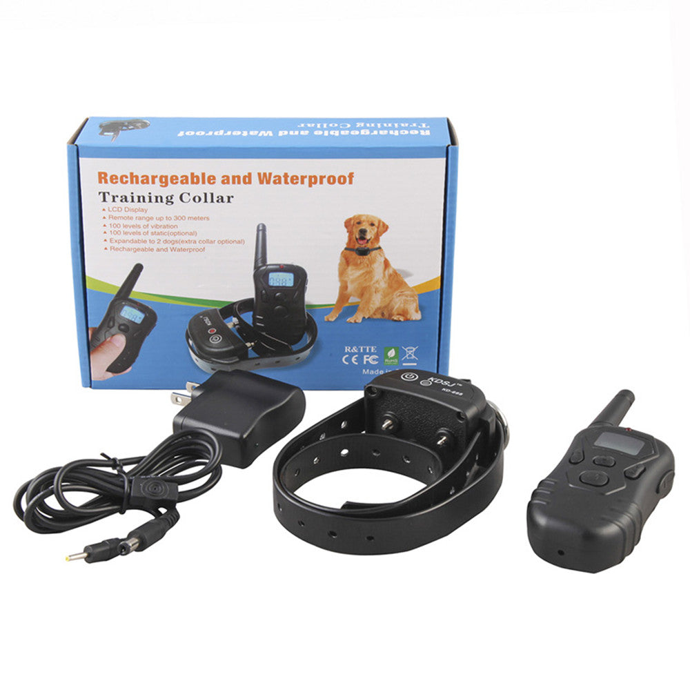 Rechargeable and Waterproof Dog Training Collar with Big Display LCD 300 Meters Remote Pet Training Collar