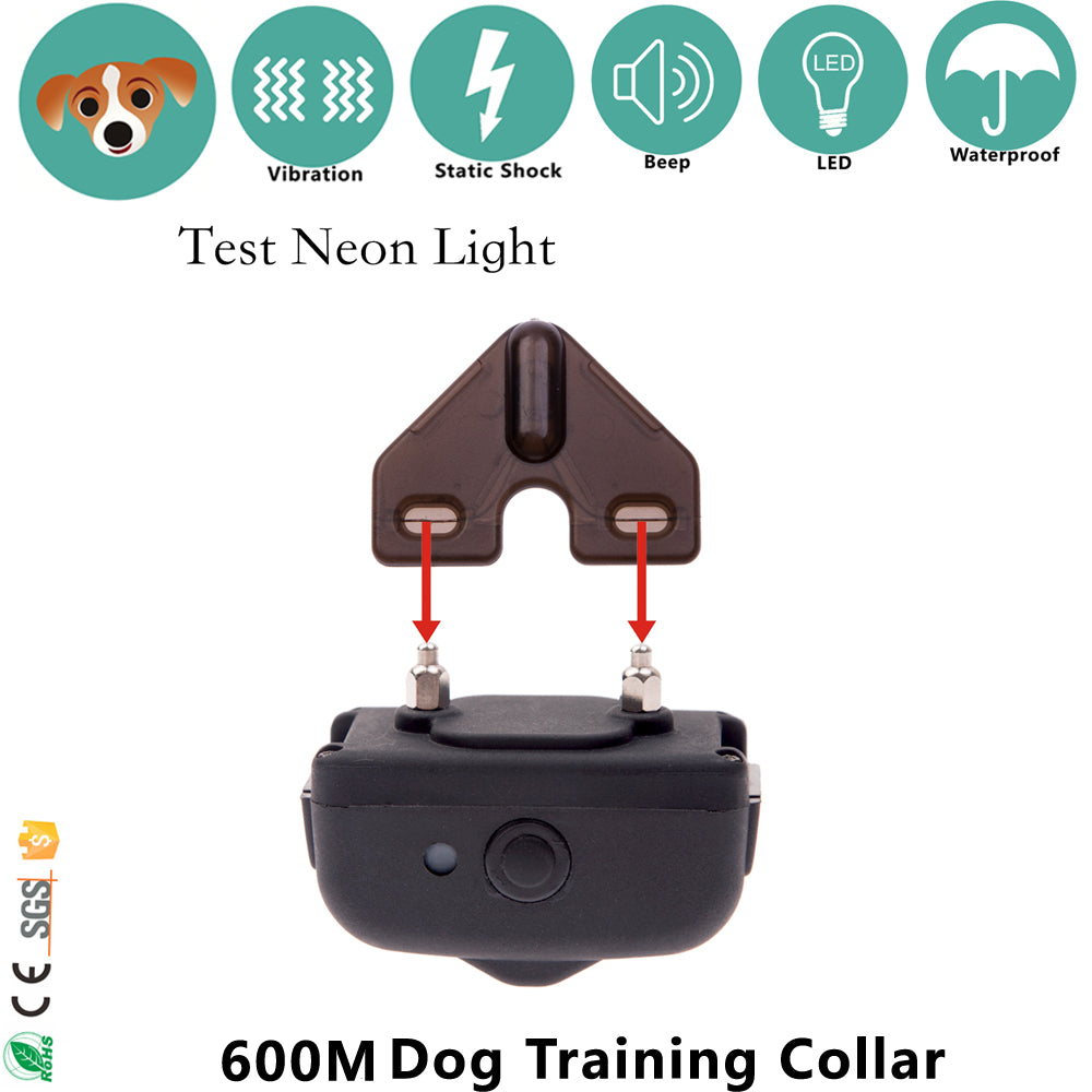 Remote 600m Dog Training Shock Collar  with Beep Vibration