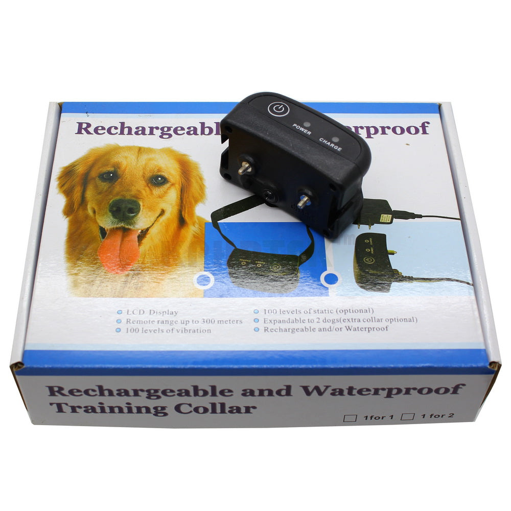 Remote Control 300m Rechargeable Waterproof Dog Training Collar For 1 Dog Diving Collar