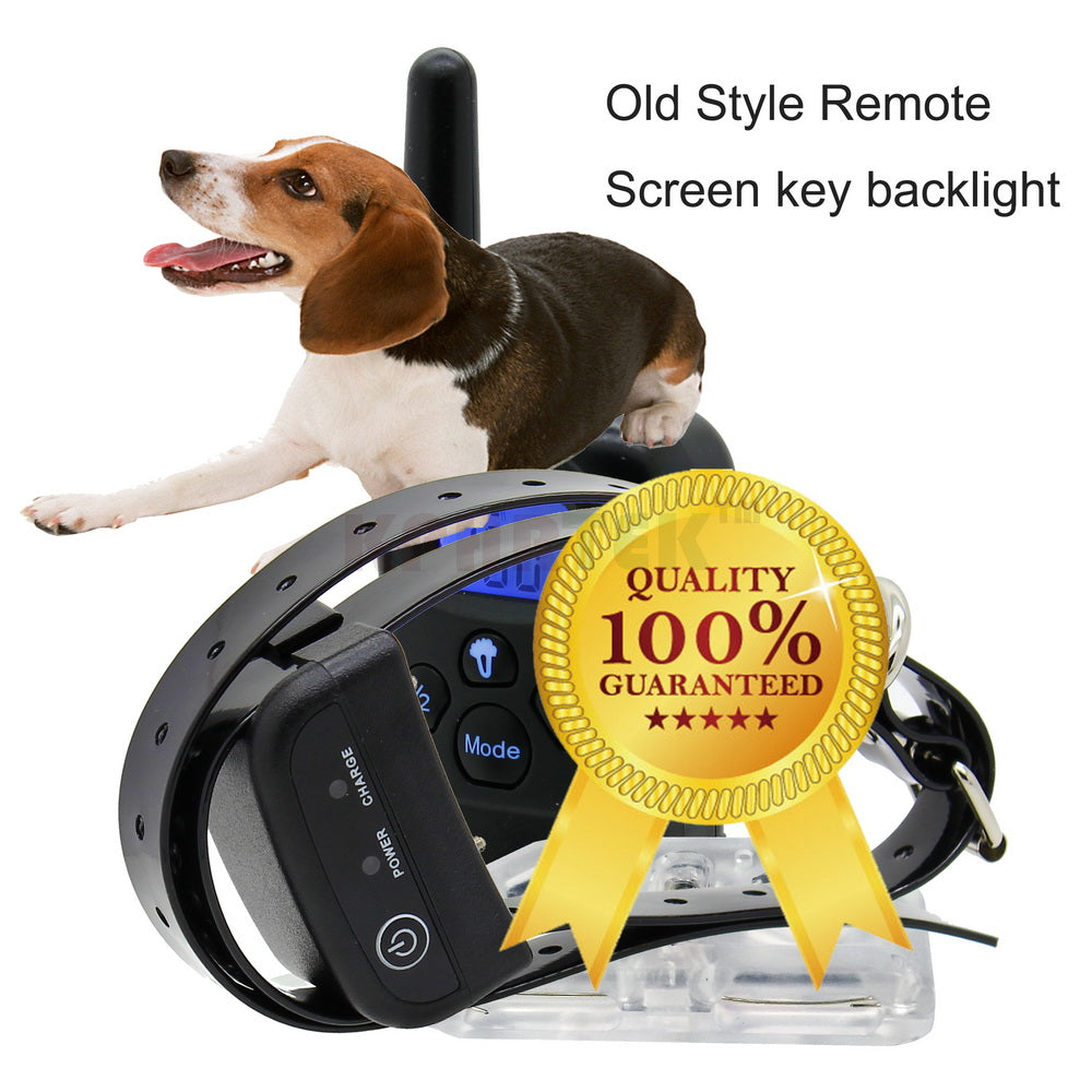 Remote Control Pet Training Collar Rechargeable And Waterproof Receiver For 2 Dogs