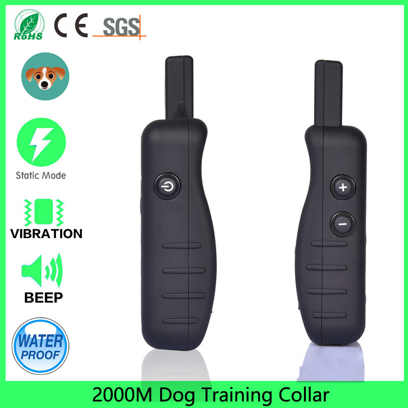 Remote Dog Training Shock Collar for Dogs with Beep, Vibration and Electric Shock, 2000m E-Collar Trainer