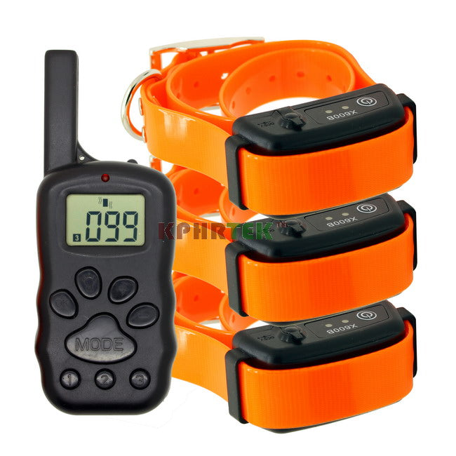 Remote Shock Pet Dog Training Rechargeable And Waterproof Anti Bark Collar