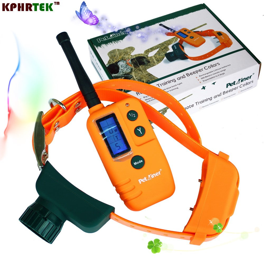 Remote Training  Dog Shock Collar and Vibrating Training Collar PET910 Waterproof Rechargeable Hunter Collar With Beeper