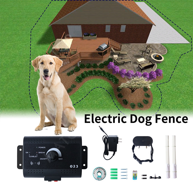 Safety Pet Perimeter Hidden Electric Fence With Waterproof Receiver Training Collar Invisible Electric Dog Fence Containment System