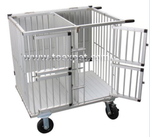 Large Size Aluminum Portable Pet Trolley - VET EQUIPMENT