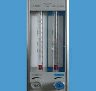 Anesthesia Machine O2/N2O Two Tube Flow Meter