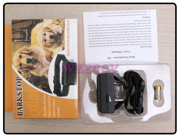 Small/Medium Anti No Bark barking Dog Training CONTROL Shock Collar* 200pcs/lot