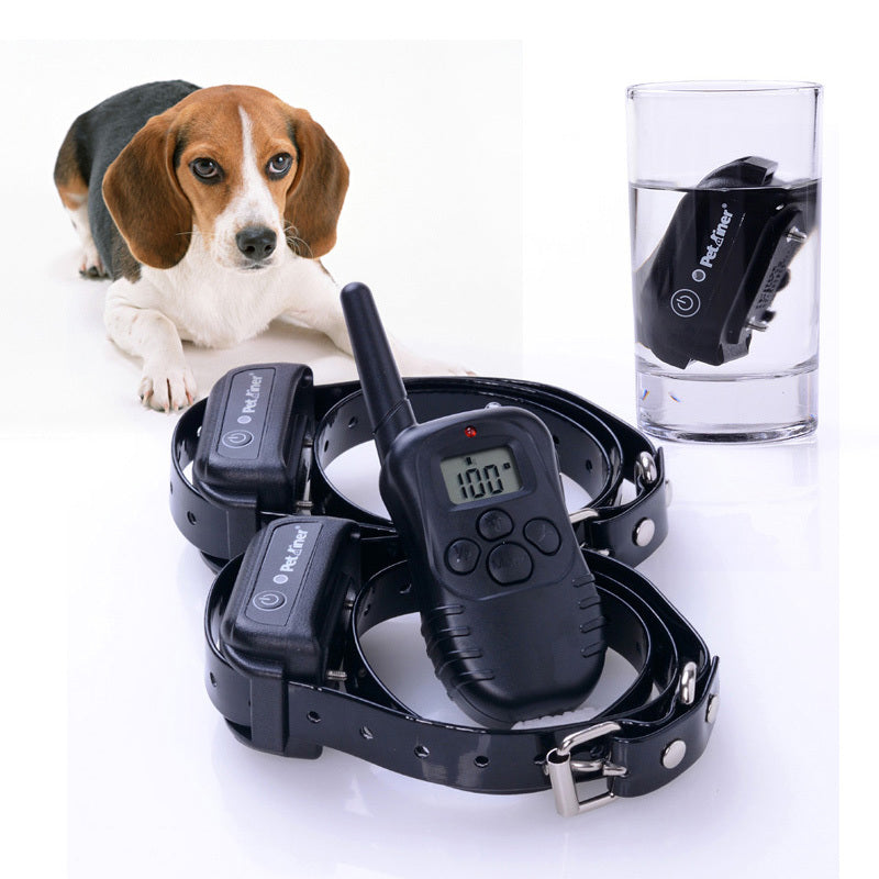 Training 2 Dogs Electric Collar Rechargeable Waterproof Dog Training Collar with Remote Control 300M