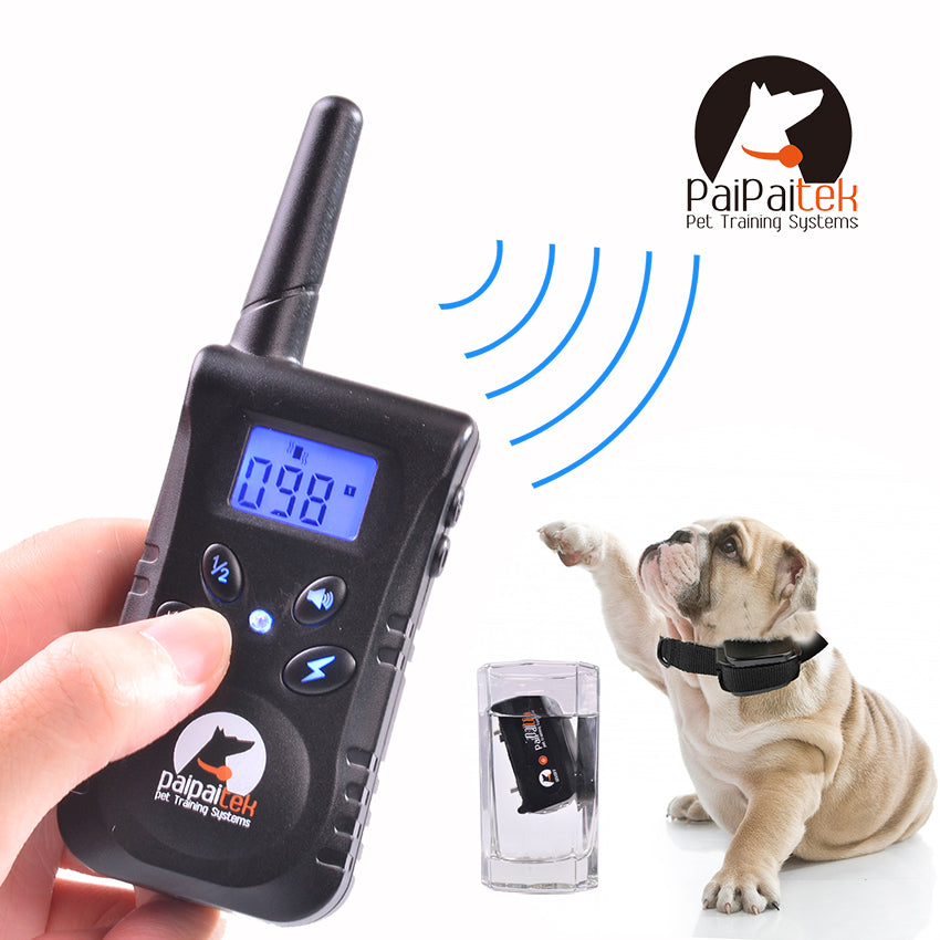 Training Collar for dogs Electric Shock&Vibration&Light&Word OF Command Dog Training Device Pet dog Trainer Remote Control 500m