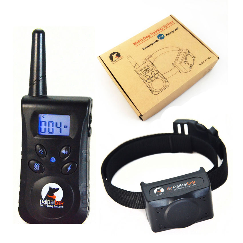 Training Collar for dogs Electric Shock Vibration Light Word Of Command Dog Training Device Pet dog Trainer Remote Control 500M