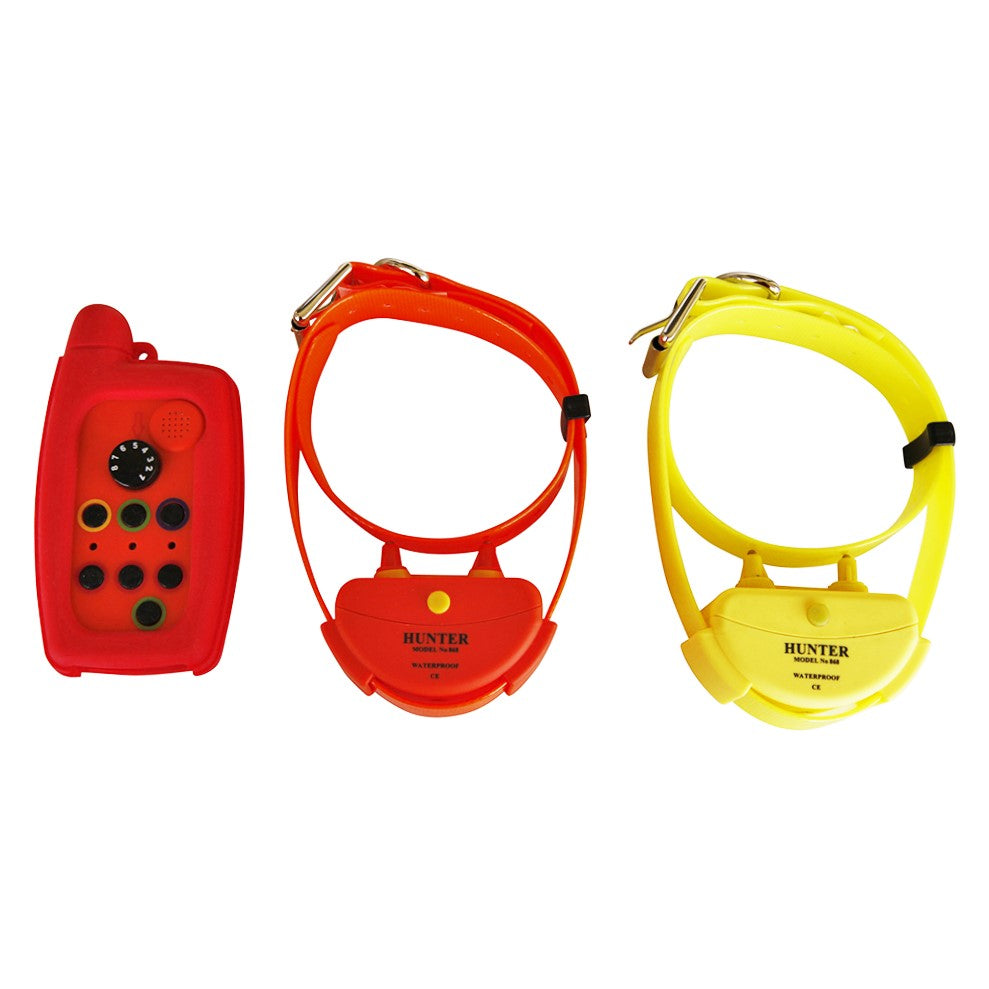 WATERPROOF DOG TRAINING COLLAR FOR 2 DOGS  RANGE UP TO 10 KM IN OPEN AREA    REMOTE TRAINER