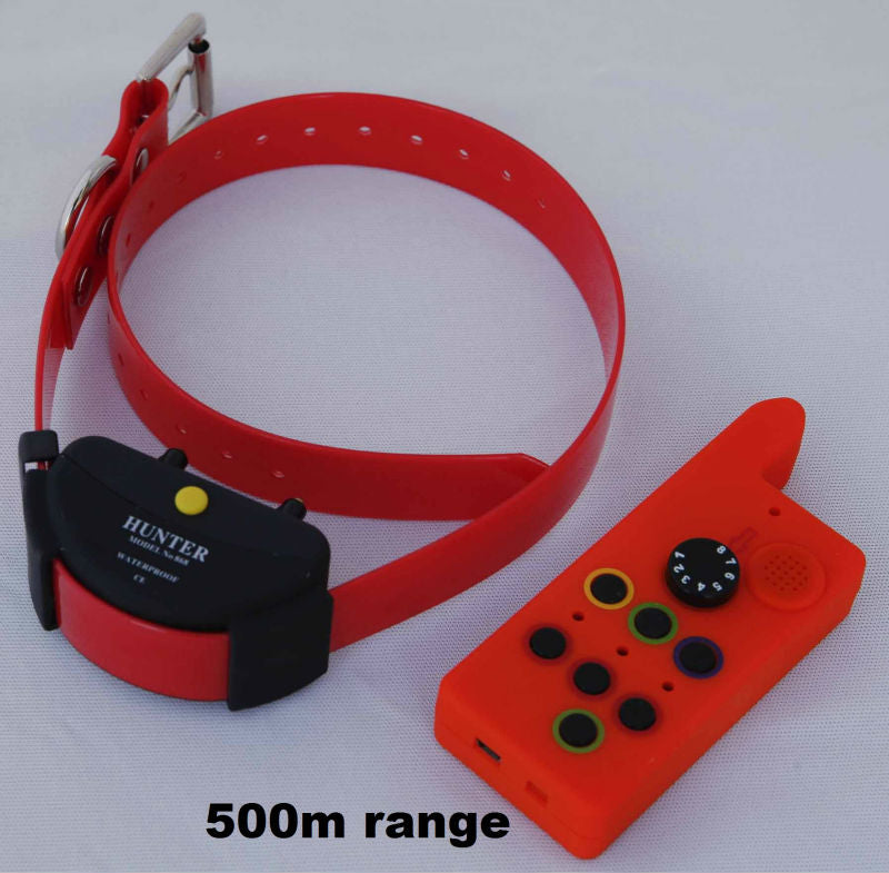 WATERPROOF DOG TRAINING COLLAR FOR HUNTING DOG  RANGE 500 METERS