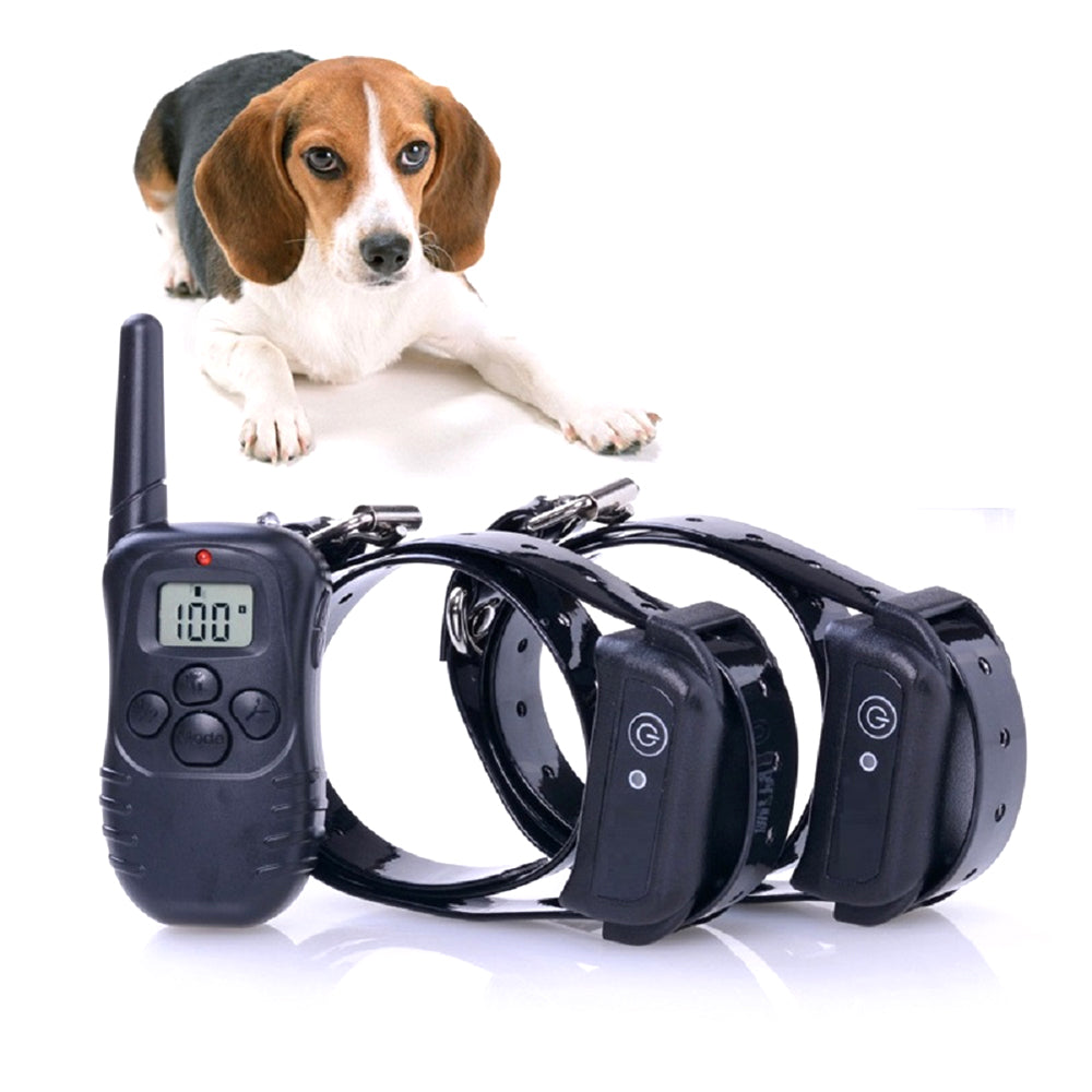 WODONDOG M998-2 300M Pet Dog Collar Training Electric Shock Collar waterproof Collars Remote Control Rechargeable LCD For 2 Dog