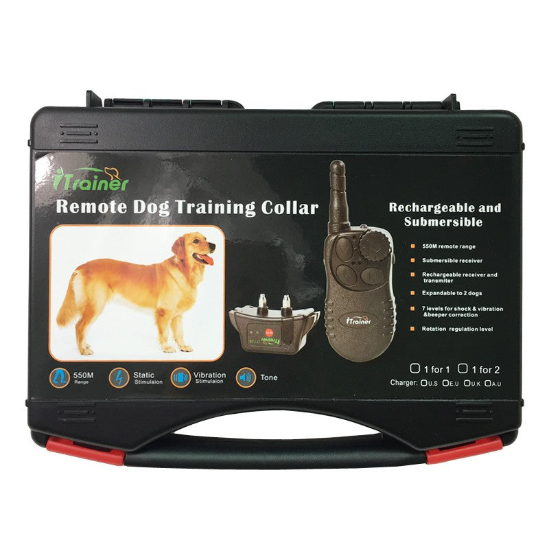 Waterproof Dog Trainer Collar Remote Control 500M Pet Training Collar Rechargeable Electric Dog Shock Collar for 1 DOG