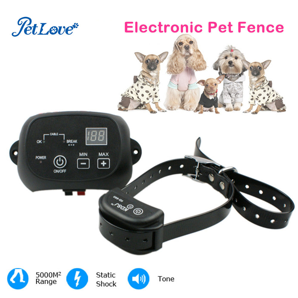 Waterproof Dog Training Collar Invisible Electronic Dog Fence System with 2500 Square Meters Coverage