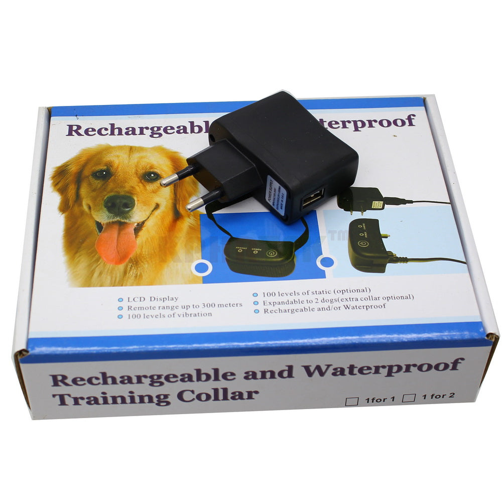Waterproof Immersion And Rechargeable 300meters Remote Electric Shock Pet Dog Training Collar For 1 Dog