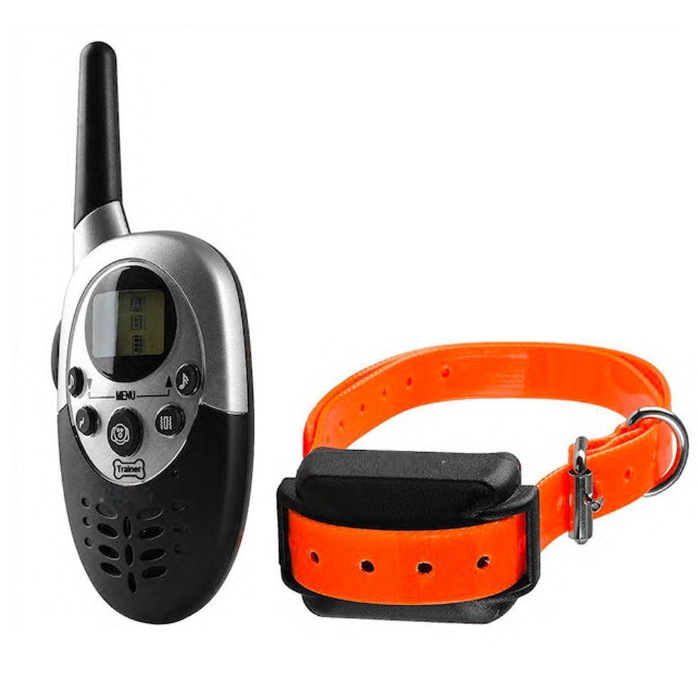 Waterproof Pet Dog Training Collar Remote 1000M Pet Dogs Electric Shock Training Collar Rechargeable LCD Remote for 1 Or 2 Dogs