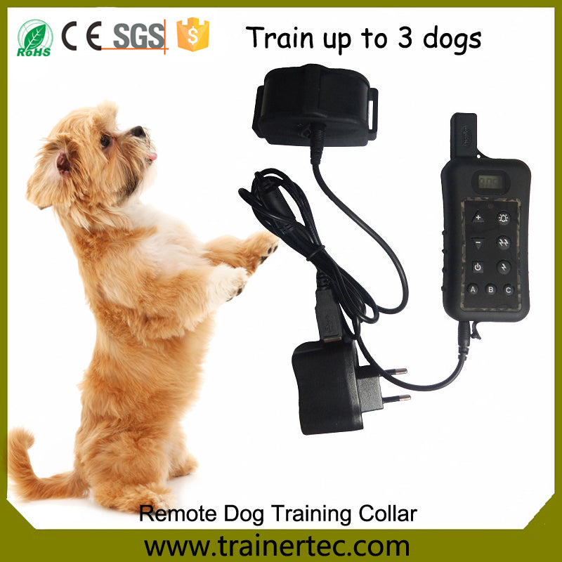 Waterproof & Rechargeable Dog Shock Collar 400m Remote Dog Training Collar with Beep Electric Shock Collar for dogs