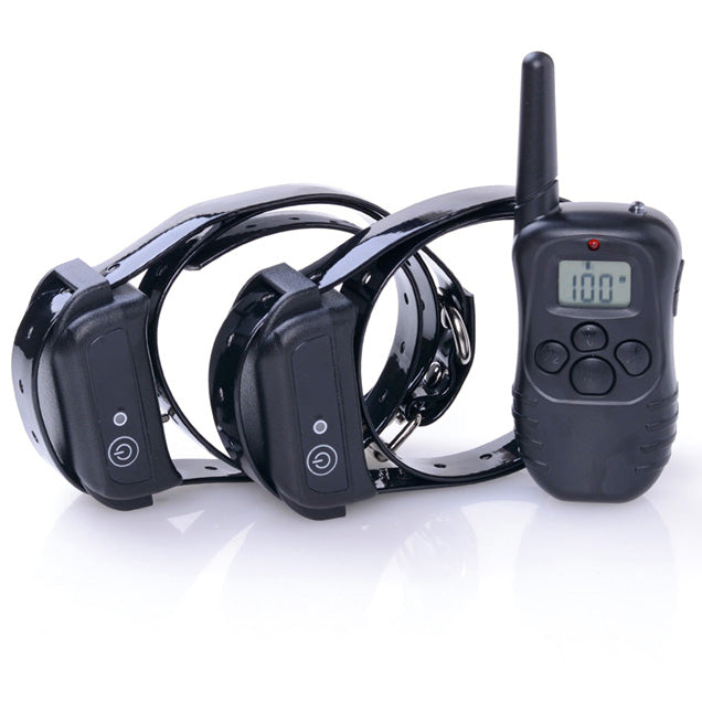 Waterproof Rechargeable LCD 2 Shock Remote Dog Training Collar Night Vision VEF61 T0.21
