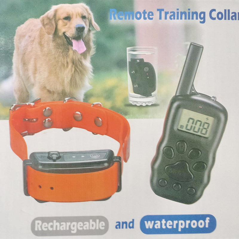 Waterproof Remote Control  Pet Dog Training Collar Pet Dog Bark-stop Collar  Pet Anti Barking Collar Training Device EU/UK/US