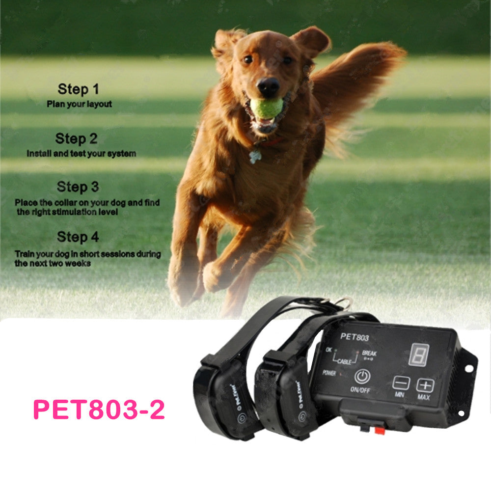 Wireless Dog Training Fence System for 2 Dogs Automatic Remote Dog Fence with Static Shock and Beep Modes Waterproof And Rechargeable