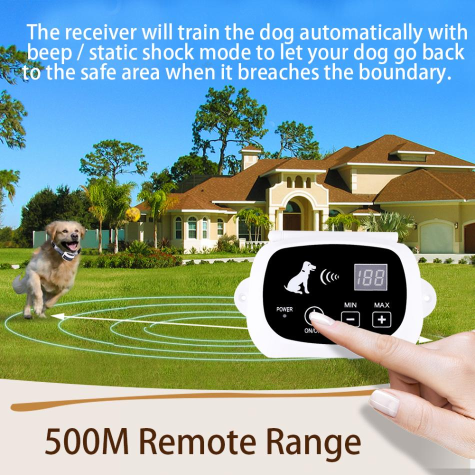 Wireless Remote Dog Training Fence Collar Anti Bark No Barking Remote Electric Shock Vibration Remote Pet Dog Training Collar