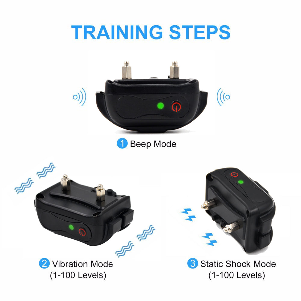 Wodondog Remote Control Electric Shock Dog Training Collar Waterproof Rechargeable Pet Dog Training Collar Vibration/Shock/Tone