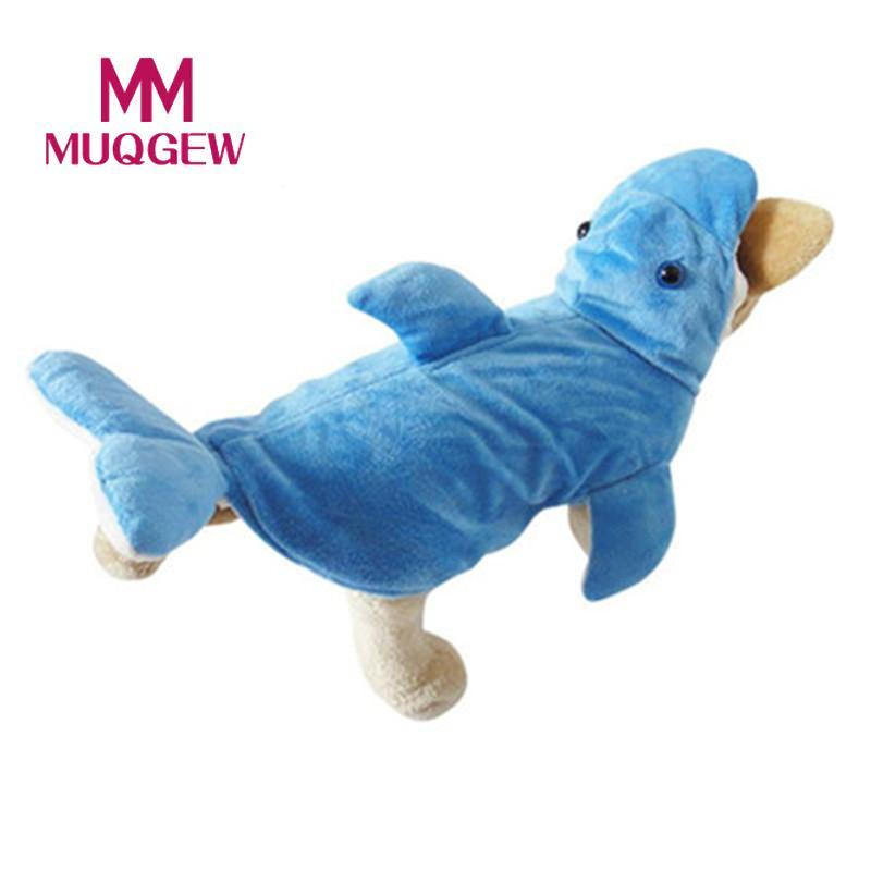 dog coats jackets winter warm Small pet Cute Pet Dog Shark shape Costume Adorable Soft Clothes New Year christmas Party 2017