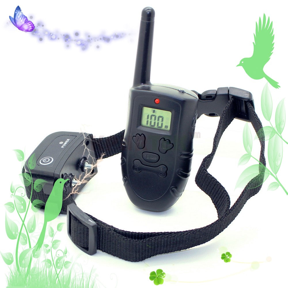 h183DR 100lv shock + vibra Remote Control Pet Dog Training Collar Rechargeable Collar Waterproof Training Collar  998DR Upgrade
