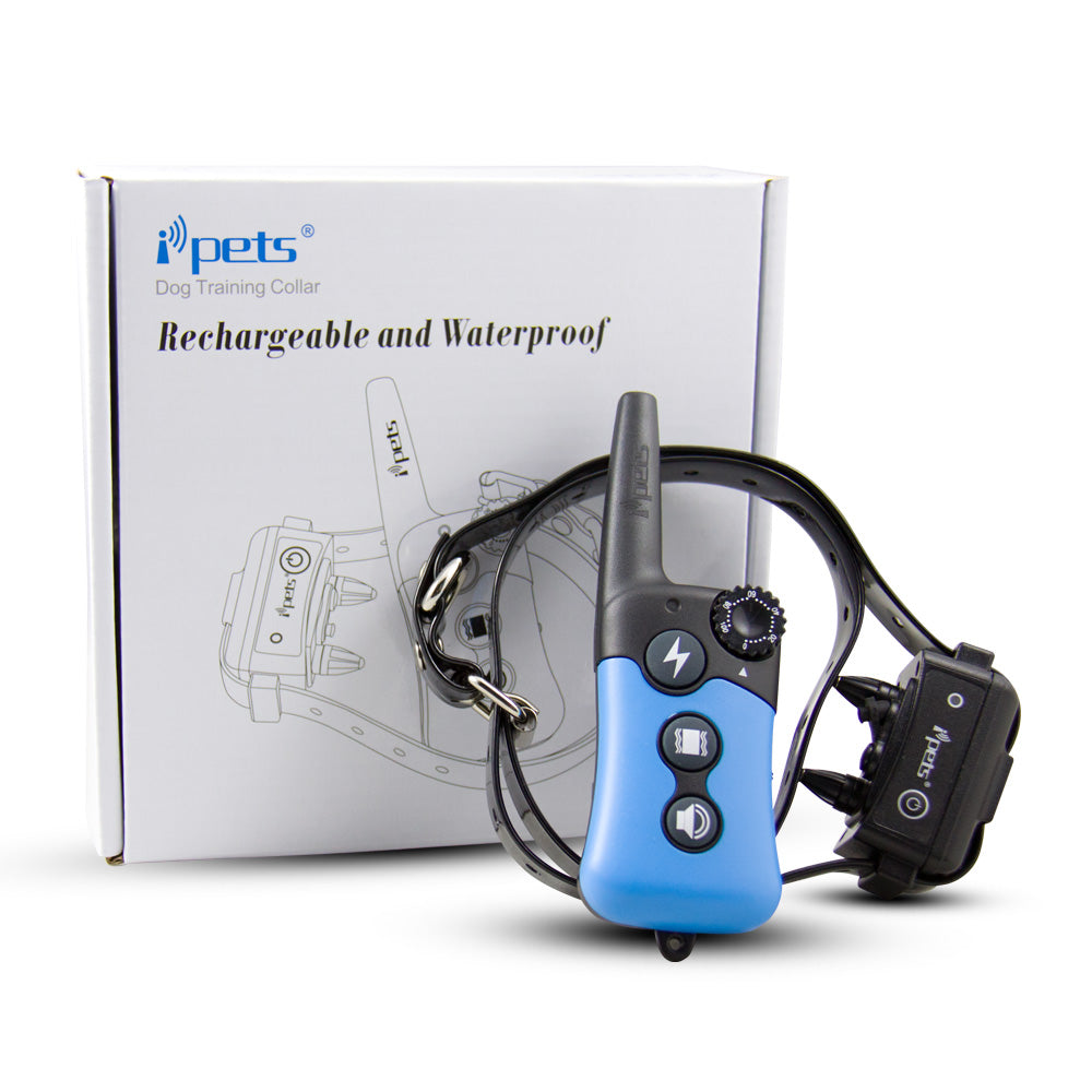 iPets PET619 330 yd Remote Rechargeable & Waterproof Dog Electric Training Collar with Tone / Vibration / Static Shock E-collar