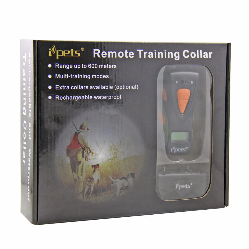 ipets PET617 Dog Remote Training E Collar  Rechargeable and Waterproof with LCD display with backlight Trianing for 1 /2 dogs