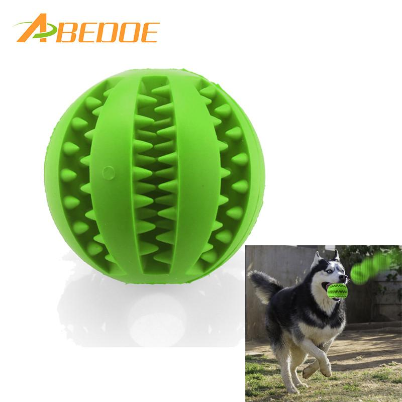 ABEDOE 7cm New Pet Dog Toy Rubber Ball Toy  Funning Pet Toys Cat Dog Chew Ball Free Strong Tooth Cleaning Tool