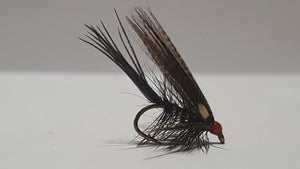 Black and Silver Dabbler Fly