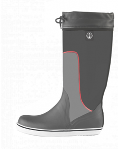Maindeck tall grey rubber boot
