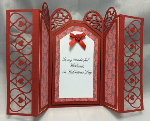 valentine card made using files for a craft cutting machine