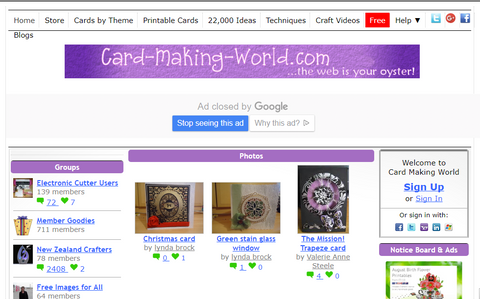 Card Making World original community site