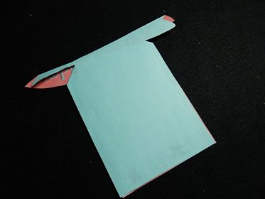 how the folded pop out card should look from the outside