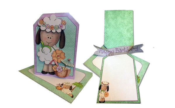 Pop Out Banner Card and Envelope from a Printable Card Making Kit