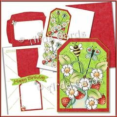 what you get in a printable pop out banner card making kit