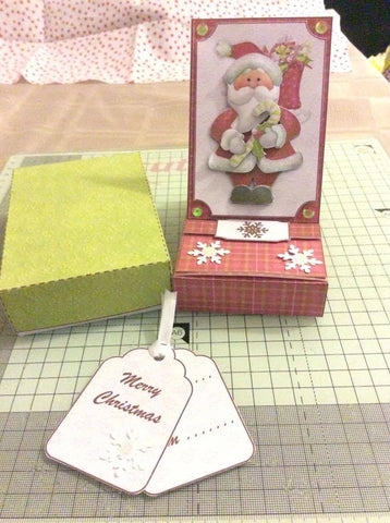 Christmas easel card made from a printable card making kit to sell at craft fairs