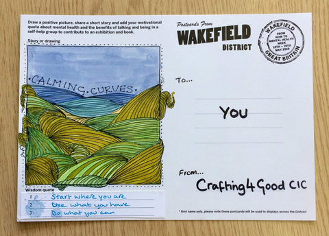 Crafting4Good Wakefield Mental Health Postcard Project