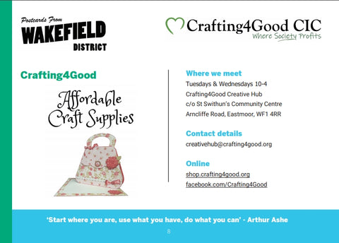 Crafting4Good from Wakefield District Mental Health Directory