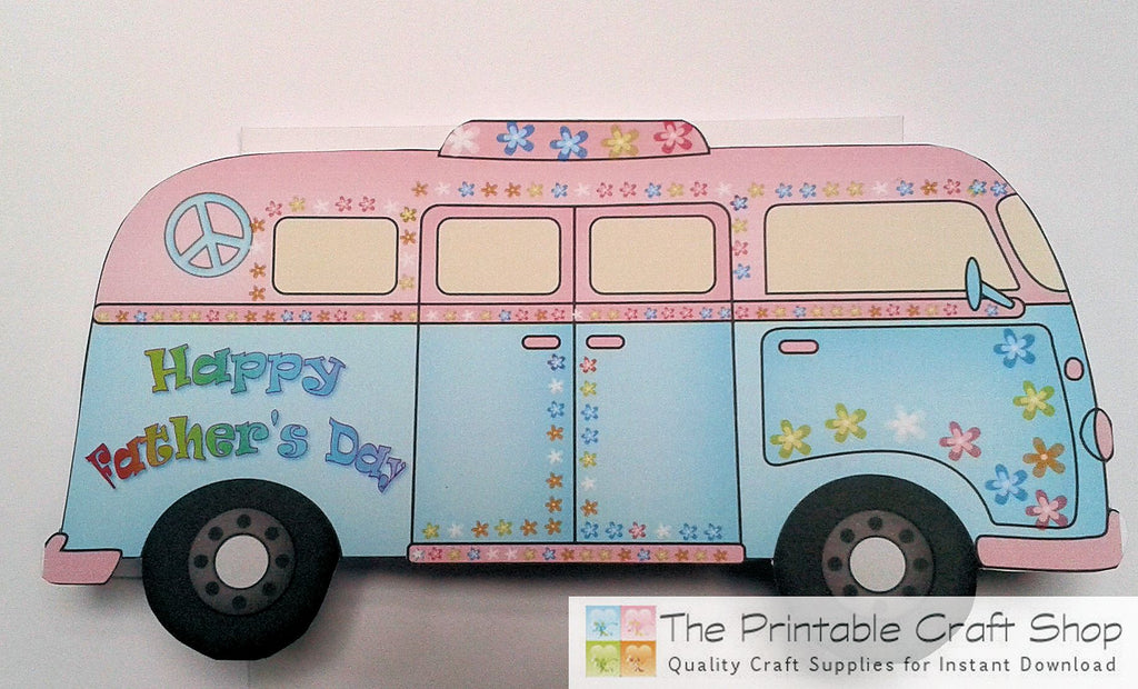 card made using campervan printables