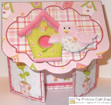 handmade gatefold envelope card from 'A Birdie Told Me' printable card kit